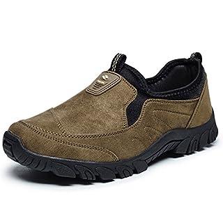 RDJM Mocassins À Enfiler Slip-On Men's Sneakers Pour L'été,Brown,43