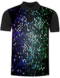 Snoogg Multicolor Honey Bee Pattern Men's Polo T-Shirt with Collar Stylish Half Sleeve (Cotton,Polyester)