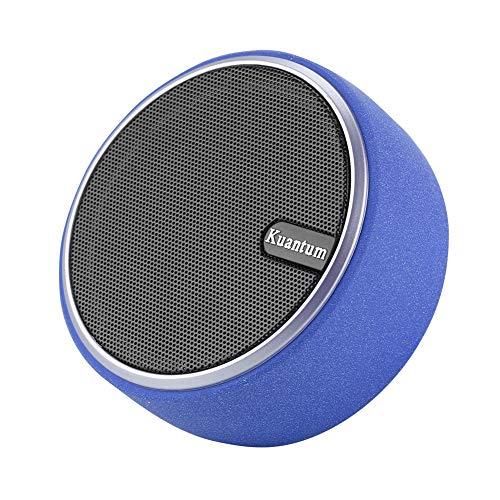 Mini Portable Lautsprecher Bluetooth, Rund wirless Musikbox Stereo mobiler Speaker mit Bass unterstützt Aux, TF Karte, Handy, Laptop (blau) (Computer-lautsprecher-runde)