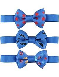 Laribbons bebé de cuello atado Pre-ajustable de Bowtie pajarita Pack de 3