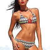 Love Home Il Costume da Bagno da Donna Diviso in Bikini Stampa Digitale Ha Riunito Il Costume da Bagno Bikini Sexy,S