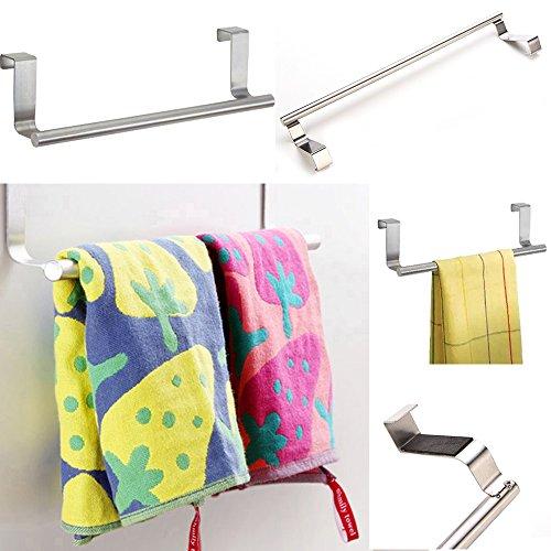 gloryhonor Multifunktional Tür Handtuch über Halter Küche Schublade Haken Badezimmer Schal Aufhänger 36 cm einfarbig
