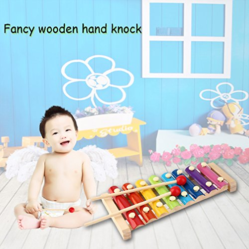 Hand Knock Wood Piano Kids Toy Xilofono Musica Rhythm Learnin in anticipo