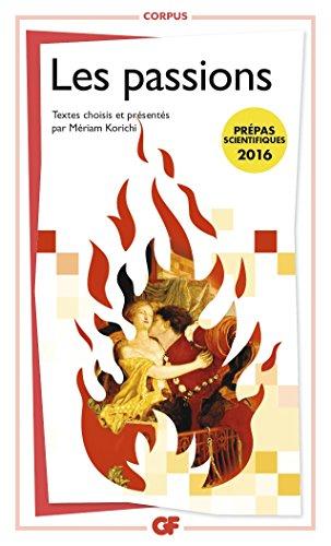 Les passions, Prépa S 2015-2016