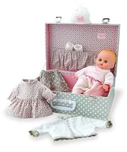 "Petitcollin Petitcollin622811 ""My Little Baby Petit Calin"" Doll in a Suitcase"