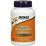 Acidophilus & bifidus 8 billion - 120 gelules végétales - Now foods