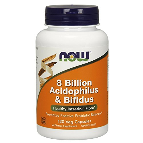NOW Foods Acidophilus/Bifidus 8 Billion, 120 Veg Capsules