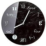 Mathematic Wanduhr Uhr aus Glas im modernem Tafeldesign
