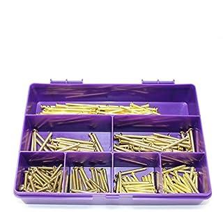 250 Piece Brass M3.5 Electrical Screws Light Switch Plug 25 30 40 50mm Kit