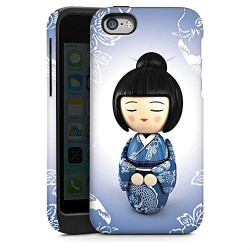 Apple iPhone 5 Housse étui coque protection Koi Kokeshi Poupée Asie Cas Tough brillant