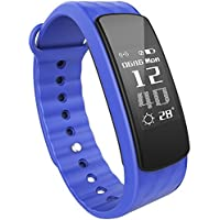 iWOWNfit i6 HR Fitness Tracker Smart Bracelet with Heart Rate Monitor Activity Tracker Deep/Light Sleep Monitor Weather Monitor Waterproof IP67 Sports Pedometer for iPhone Android