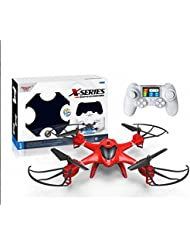 X-Series Drone RC Quadcopter con luces LED, Rojo