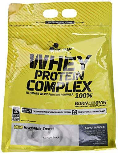 Olimp Whey Protein Complex 100{b59d56784b4de0c0d87a409b4af87e8fdfa09ac71236ba298551519ed42663d9} | Powder Eiweiß-Pulver | BCAA-Aminosäuren | mit Süßstoffen, aspartamfrei | Cocktails Smoothies | Kokos Geschmack | 64 Portionen | 2,27 kg
