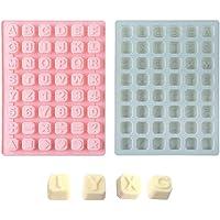 2 Moules à Chocolat en Silicone WENTS 26 Lettres Moules à Gelée Fabricant de Plats de Cuisson Réutilisables pour la…