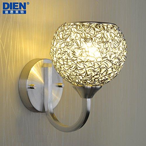 BBSLT Semplice moderno circolare LED parete singola testa creativa soggiorno