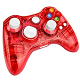 Prous Xbox 360 Controller XW21 Wireless PC Gamepad LED Controller Transparent Joystick f�r Xbox 360/PC - Rot (Drittanbieter Produkt) medium image