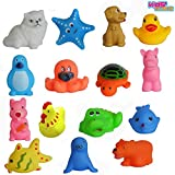 Kids Choice Chu Chu Bath Toys For Baby Non-Toxic Toddler Set Multi Color (1 Set - 15 Pcs)