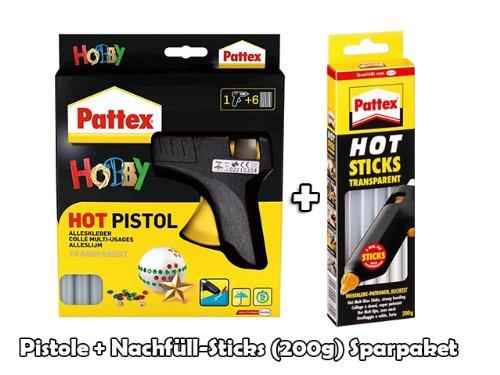 Pattex® HOT Heißklebepistole inkl. 200g Nachfüllpatronen im Sparbundle