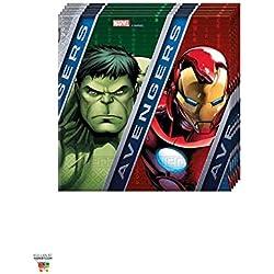 Avengers - Servilletas de papel, 2capas, 20unidades, 33x 33cm, multicolor (Procos 6886666)