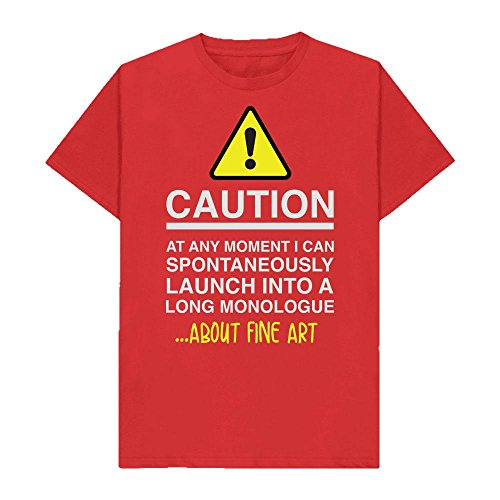 Caution - at Any Moment I Can Monologue About. FINE Art - Hobbies - Tshirt - Shaw T-Shirts - Sizes Small to 2XL