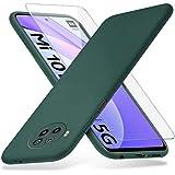 Richgle Funda Xiaomi Mi 10T Lite 5G & Templado Protector de Pantalla, Slim Suave TPU Silicona Protectora Funda Case Slim Cove