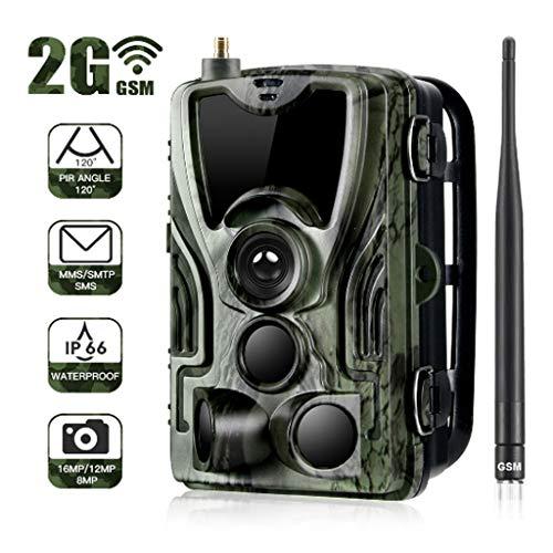 HAOHOAWU Wildlife Kamera, Trail-Kamera Mit Infrarot-Bewegungsmelder Nachtsicht 20M / 65FT Trap-Spiel-Kamera Mit 2.0