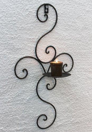Porta candele a parete 12112 porta candele in metallo - Portacandele da parete ...