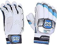 SS Sunridges Tournament Soft Fill Batting Cricket Gloves, 1 Pair - White [10040037]