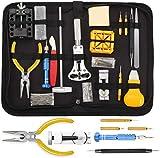 Sopoby Uhrenwerkzeug Set 147tlg Uhrmacherwerkzeug Uhr Werkzeug Tasche Reparatur Set Uhrwerkzeug Gehäuse Öffner in Nylontasche watch tool