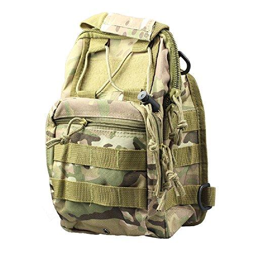 LETTER Umhängetasche Molle Tactical Sling Brust Tasche Assault Pack Messenger (Tarnung)