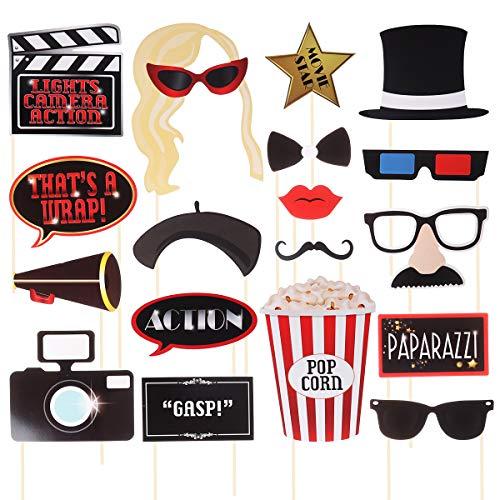 Filmstar Photo Booth Requisiten Lustige Kit Kamera Film Schießen Requisiten Geburtstag Maskerade Party Favors ()