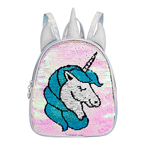 Segorts - Mochila de Unicornio con Lentejuelas, Reflectante, holográfica, para niñas y Adolescentes, Holo Unicorn, Talla única