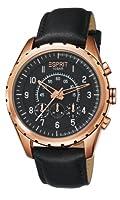 Reloj Esprit ES105351004 de cuarzo para hombre con correa de piel, color negro de Esprit