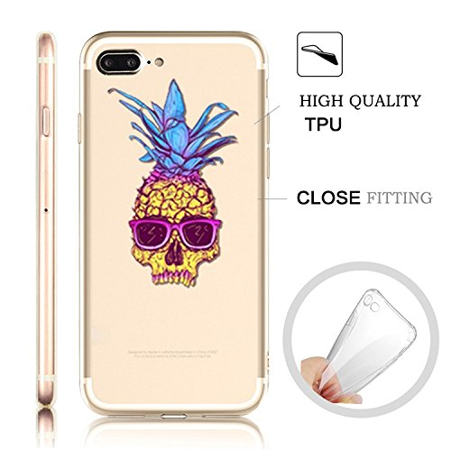 iPhone 7 Plus Transparente Case iPhone 7 Plus 5.5 pouces Cover,MingKun Ultra Mince Transparente Soft TPU Silicone Clair Transparente Case iPhone 7 Plus 5.5 pouces Cover pour iPhone 7 Plus Clair Étui H Design 6