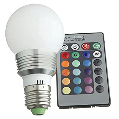 LED Aluminium 16 Color Changing RGB LED Light Bulb + Remote Control by Wanway - Read Reviews