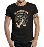 GASOLINE BANDIT T-Shirt original Biker Racer Rockabilly Hot-Rod Design: V-Twin Pinup XXXXL