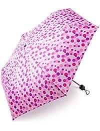 Kinder Regenschirm boy ® Taschenschirm Mini Regenschirm Für Mädchen und Jungen, Klein, Extra Leicht & Kompakt Kinderschirm, 207g, Wellenpunkt