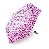 Regenschirm Kinder boy ® Taschenschirm Kinderschirm Für Mädchen und Jungen, Klein, Extra Leicht & Kompakt Mini Regenschirm, 207g, Wellenpunkt Rosa