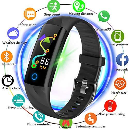 Fitness Tracker, IP68 Waterproof Smart Watch Breathing Light Fitness Hand Epoxy Gas Artery Druckmonitor Funktion -