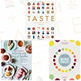 Taste, Wine Folly and Afternoon Tea at Home 3 Books Bundle Collection - The Infographic Book of Food, A Visual Guide to the World of Wine, Deliciously indulgent recipes for sandwiches, savouries, scones, cakes and other fancies