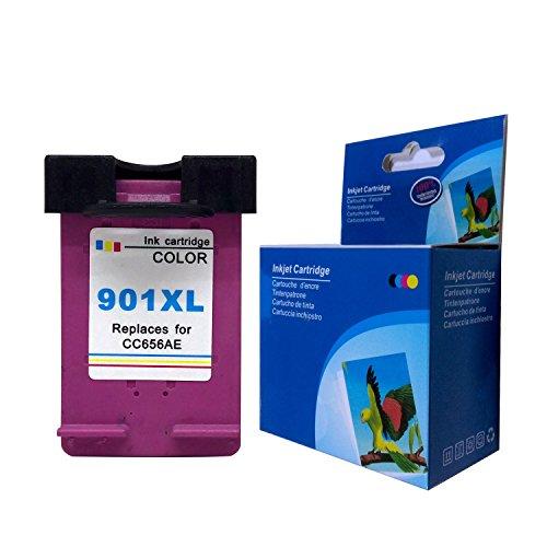 Kyansin 1XL Tri-Color Cartuchos Reemplazo para HP 901 XL 901XL Compatible Cartuchos de Tinta para Impresora HP Officejet 4500 G510a 4500 G510g 4500 G510n J4640 J4660 J4680 J4680c J4540 J4550 J4580