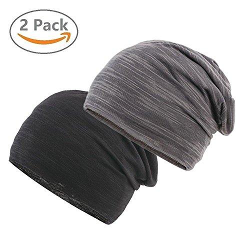 EINSKEY Beanie Herren, Unisex Sommer Chemo Mütze Leicht Sport Kopfbedeckung Kopftuch Cap Set für Chemo, Sport, Krebs, Schlaf, Fitness (Mütze Falten)