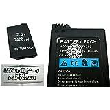 Bateria de Litio de 3.6V y 2400 mAH para SONY PSP SLIM 2000 3000 Marcado CE 2506