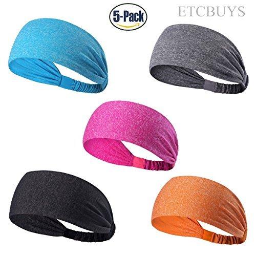 ETCBUYS Sports Fitness Haarband–Athletic Damen Stirnband und Übungen Head Wrap Schweißband für Yoga, Mode, Basketball, Laufen, Mädchen