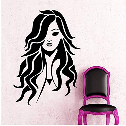 Lovemq Etiqueta De La Pared 42 * 57 Cm Corte De Pelo Salón Arte Vinilo Etiqueta De La Pared Chica Moda Belleza Spa Peluquería Etiqueta De La Pared Etiqueta De La Ventana De Cristal Decoración