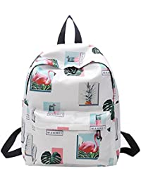 Rrimin Autumn Nylon Backpack Students Shoulder Bag Teenagers Girls Printing Bag