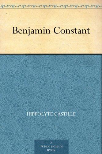 Couverture du livre Benjamin Constant