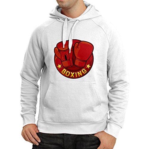 lepni.me Kapuzenpullover Boxen - MMA, Kickboxen, Box Handschuhe (XXX-Large Weiß Mehrfarben)