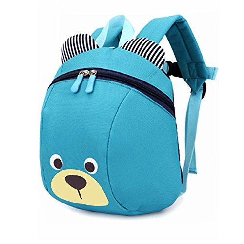*FRISTONE Mini-sac à dos école Maternelle Enfant Bébé Filles tout-petit Sac Garçons Kindergarten Backpack Toddler avec sangles de sécurité,Bleu Meilleure offre de prix