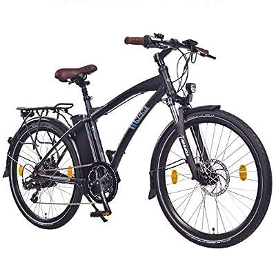 "NCM Essen 36V 26"" Zoll Urban City E-Bike, 250W Bafang Heckmotor, 13Ah 468Wh Li-Ion Akku, Shimano NEXUS 7 Gang Schaltung, matt schwarz"